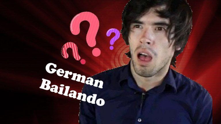 Germán Garmendia baila